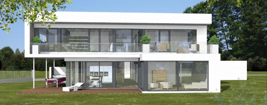 Einfamilienhaus modern Entwurfsplanung